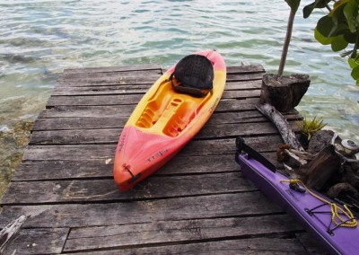We have a nice selection of kayaks and canoes for your use